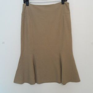 New Club Monaco Tan Flirty Winter Skirt